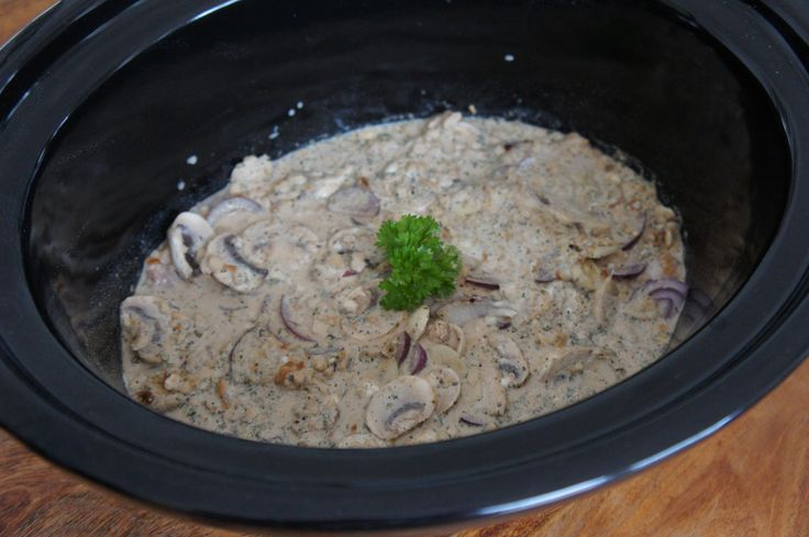 Slow Cooker Creamy Chicken and Stuffing recipe. From slow cooker crock pot recipes app