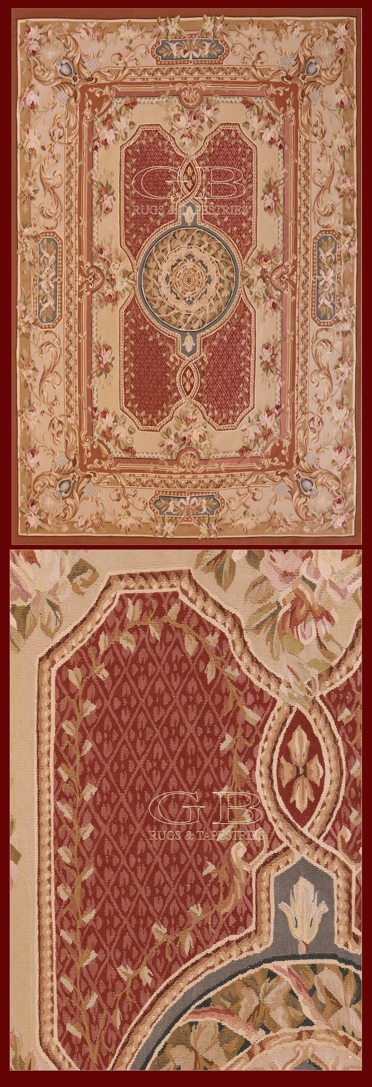 Tappeto Aubusson 277x183 Cod. 141525445983 | TAPPETI AUBUSSON | GB Rugs