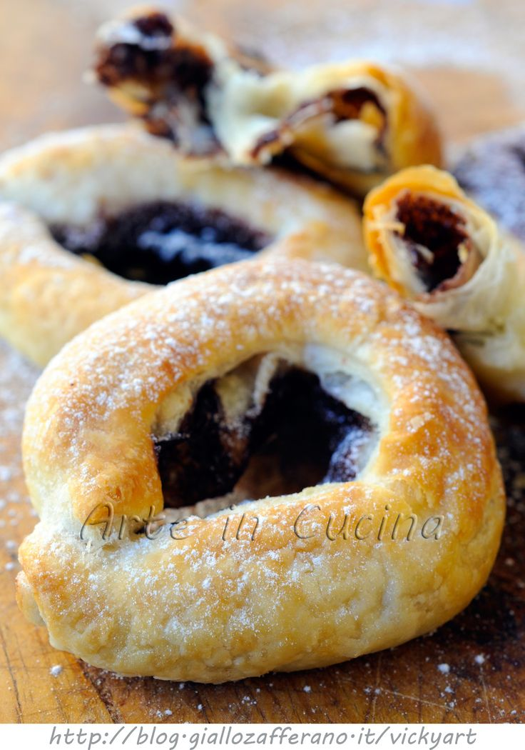 Ciambelle di sfoglia dolci alla nutella vickyart arte in cucina