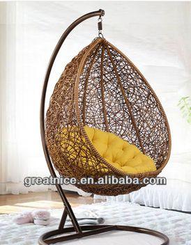 Rattan Bird Nest Hanging Basket Hanging Chair Rattan Swing Chair Indoor  Balcony Single Rocking Chair