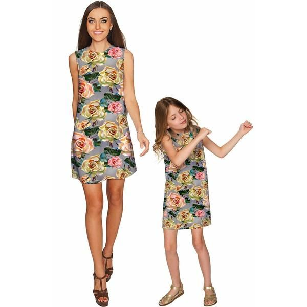 Mommy and Me outfits are always a good idea! A true classic, our Adele shift dress is simply elegant and so versatile. Made from the highest quality eco-friendly stretch fabric, this must-have dress is flattering on all figures. Wearing our beautifully printed Adele dress, you will feel so comfortable and confident no matter where you go. THE EXCLUSIVE PLACEMENT OF THE PRINT HIGHLIGHTS THE ORIGINALITY OF THE DESIGN Prices are inclusive of all taxes.FREE USSHIPPING Designed and sewn by hand…