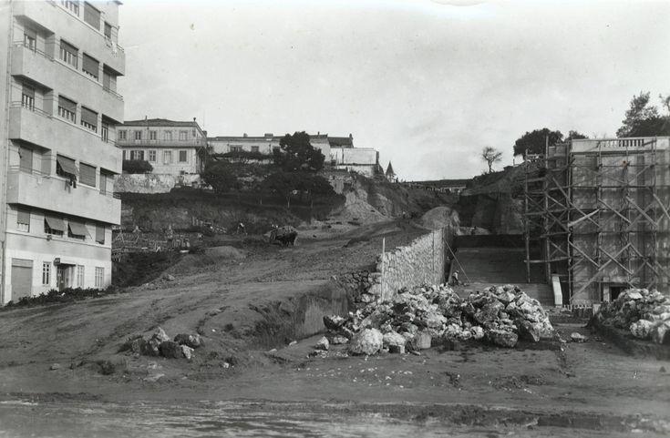 Construção da Fonte Monumental da Alameda, dez 1