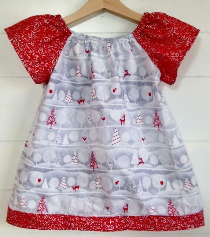 Sandlwood Peasant Dress - White Christmas - Babies & Kids
