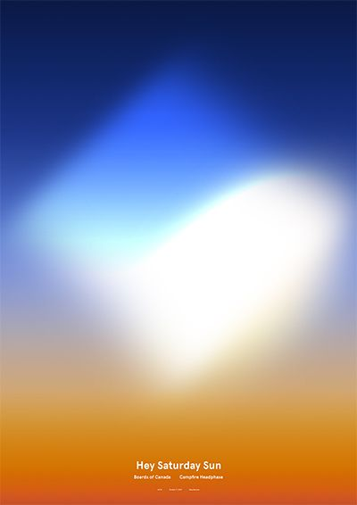 Hey Saturday Sun Poster 光をすごく綺麗に表現してる。