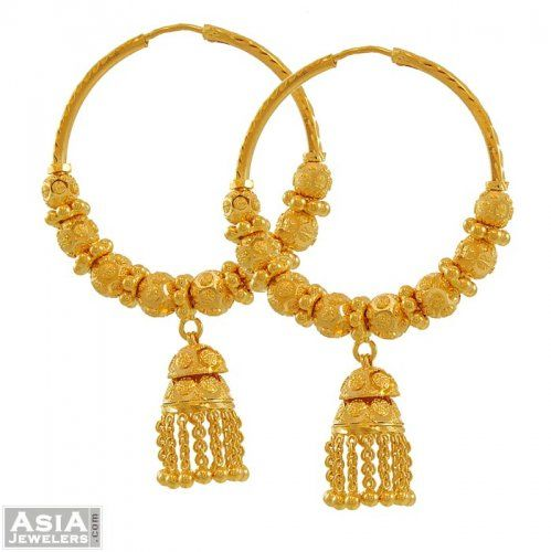 Designer Indian Earrings: Indian Gold Earrings - Google Search