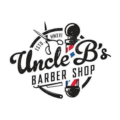 Logo With Barber Concept Design For Branding