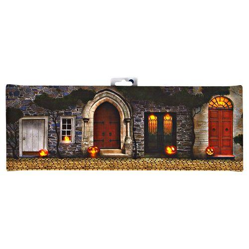 "LED Jack-O-Lantern Doorway Canvas, 6"" x 16"" $14.99 #Gordmans #Halloween #Decorations"
