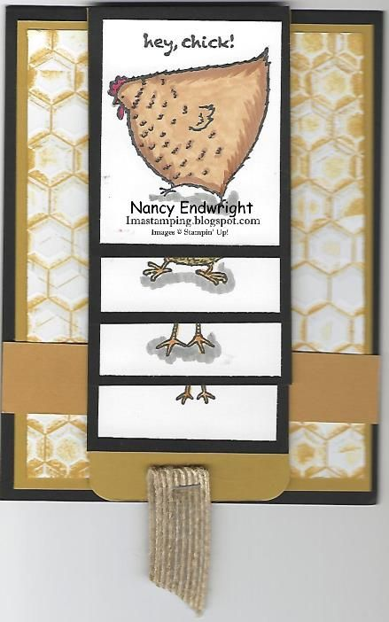 Hey, Chick! Waterfall Card by Imastamping - Cards and Paper Crafts at Splitcoaststampers