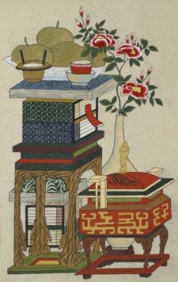 Scholar`s Accoutrements / Color on korean paper, 2012 /