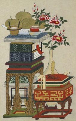 Scholar`s Accoutrements / Color on korean paper, 2012 /