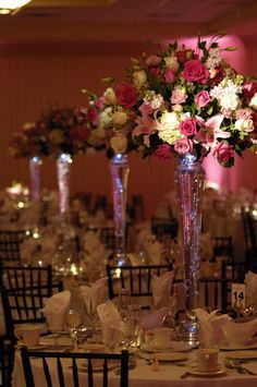 Cheap Wedding Centerpieces In Tall Vases