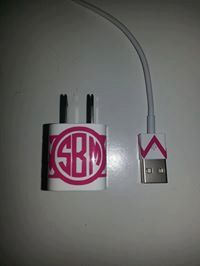 Iphone or IPAD or Ipod Charger monogram by DragonflyDesignsVA