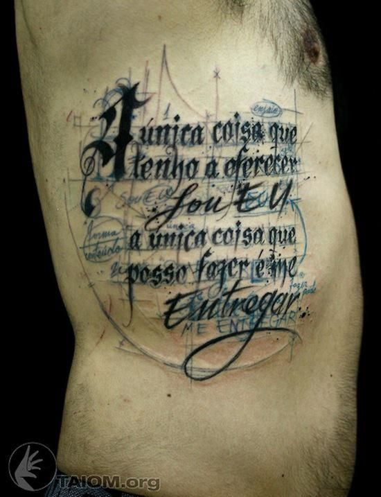 dazzling one of a script tattoos