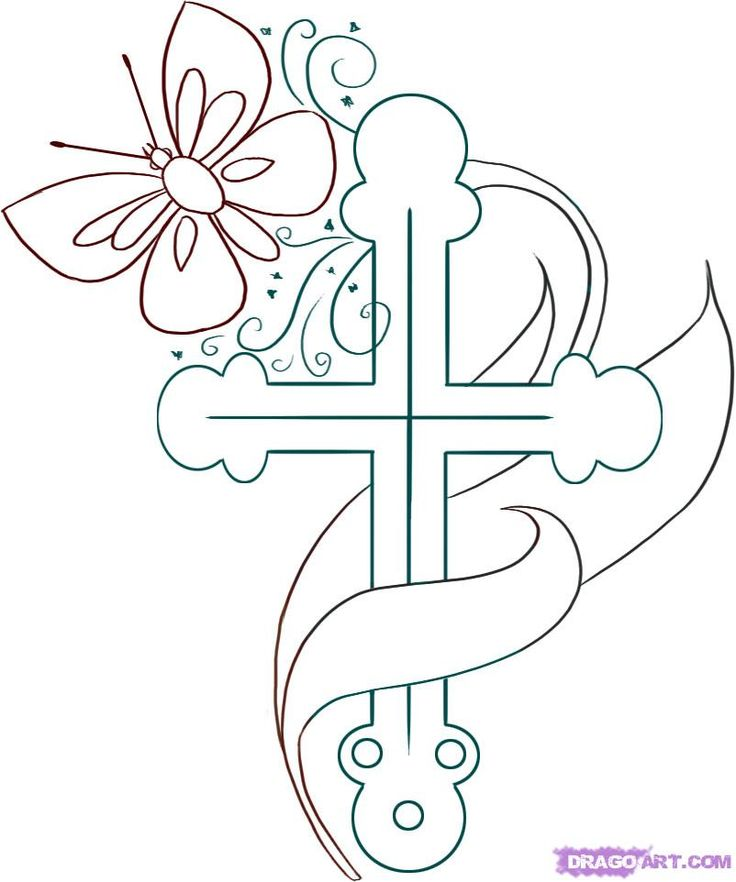 jesus cross coloring pages - photo#36