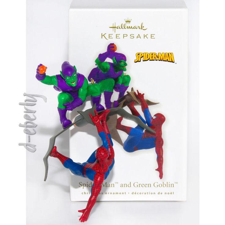 ~~2010 SPIDER-MAN & GREEN GOBLIN~~Hallmark~~Ornament~~MARVEL CARTOON SUPERHEROES