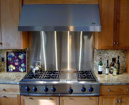 Brushed Stainless Steel Backsplash   Brooks Custom Brookscustom.com # Stainlesssteel #brushed #backsplash