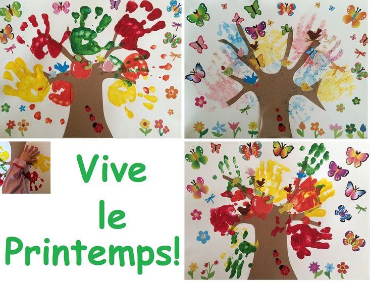 17 meilleures images propos de bricob b bricolages de - Fleurs printemps maternelle ...