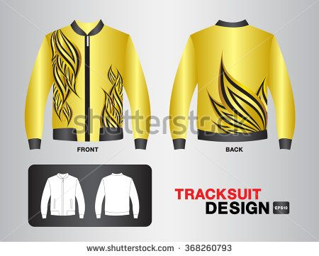 yellow tracksuit design jacket vector illustration sport t-shirt uniform design clothes vector design fashion design