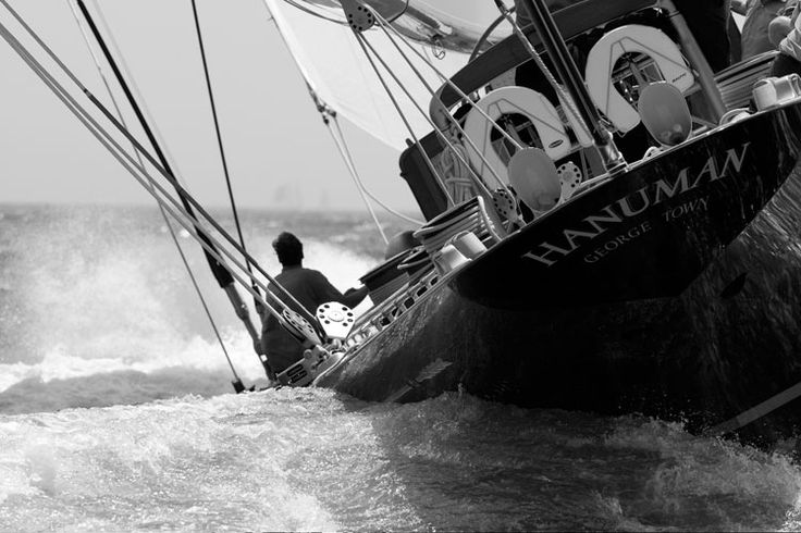 The new J-Class Hanuman sails the Newport Bucket