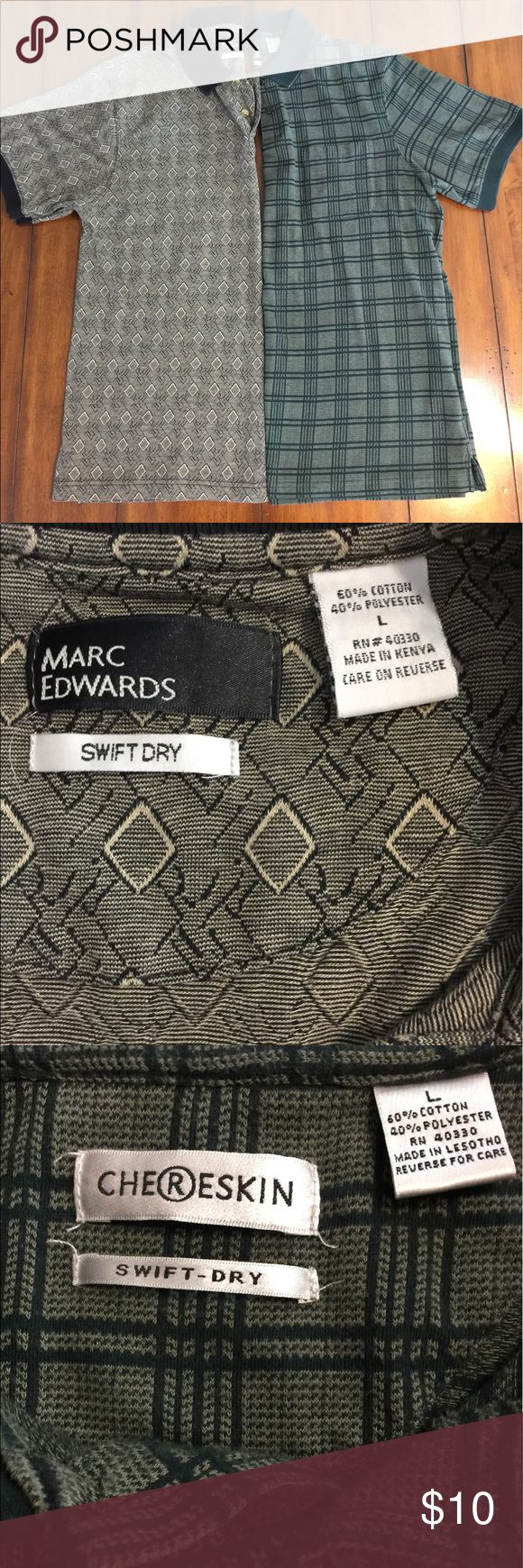 Two polo shirts Marc Edwards and Chereskin , two polo shirts. Washed out collar Shirts Polos