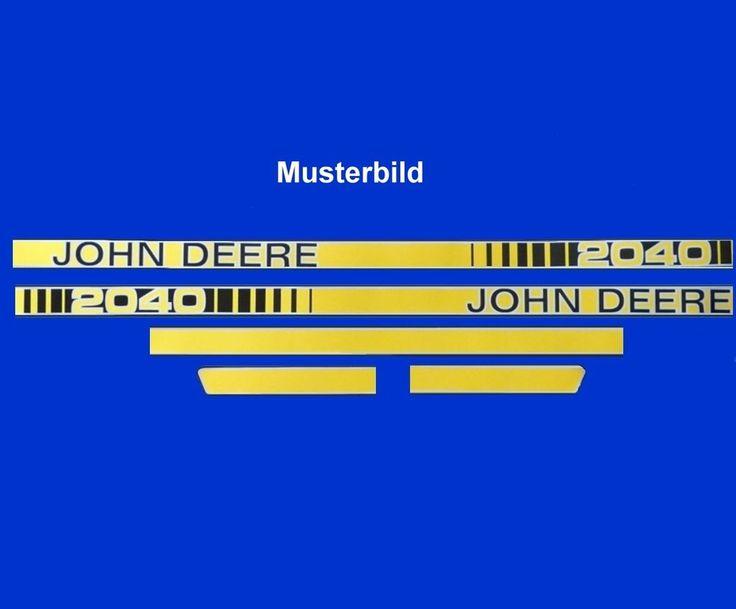 Haubenaufkleber Typenaufkleber Aufkleber für d Motorhaube John Deere 40er Serie