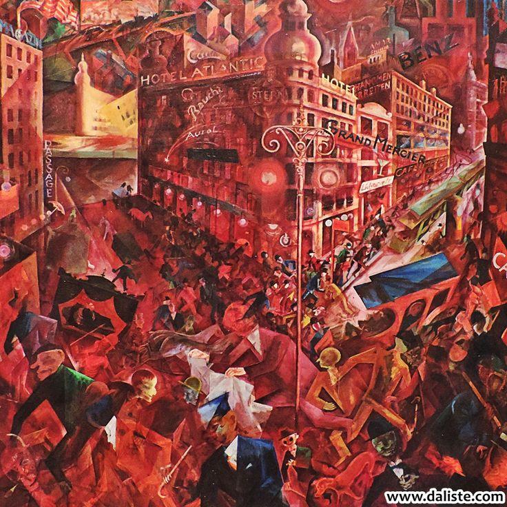 George Grosz, Metropolis, 1916-17 @ daliste.com #daliste #madrid #museothyssen #georgegrosz #metropolis #art #artmuseum #spain