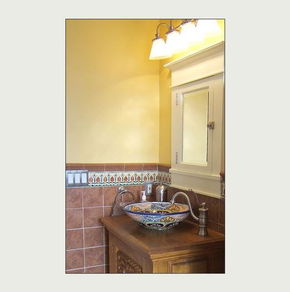 10 best images about bathroom ideas on pinterest vanities allen roth and tile - Bathroom tiles talavera ...