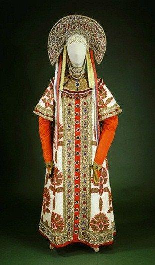 Russian costume designed by Ivan Bilibin in 1909 for ballerina Anna Pavlova.