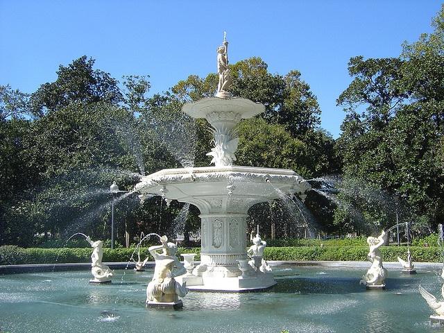 Forsythe Park Fountain in Savannah, Georgia