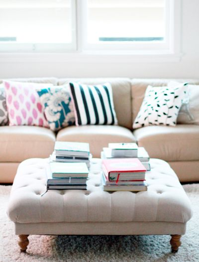 A Roundup Of DIY Ottomans Via Dotcoms For Moms. I Bought A Staple Gun For Part 93