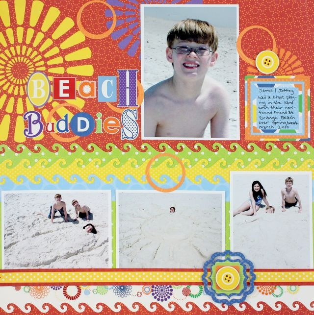 Beach Buddies Wave Border Maker #Scrapbook Layout Project Idea from Creative Memories  http://www.creativememories.com