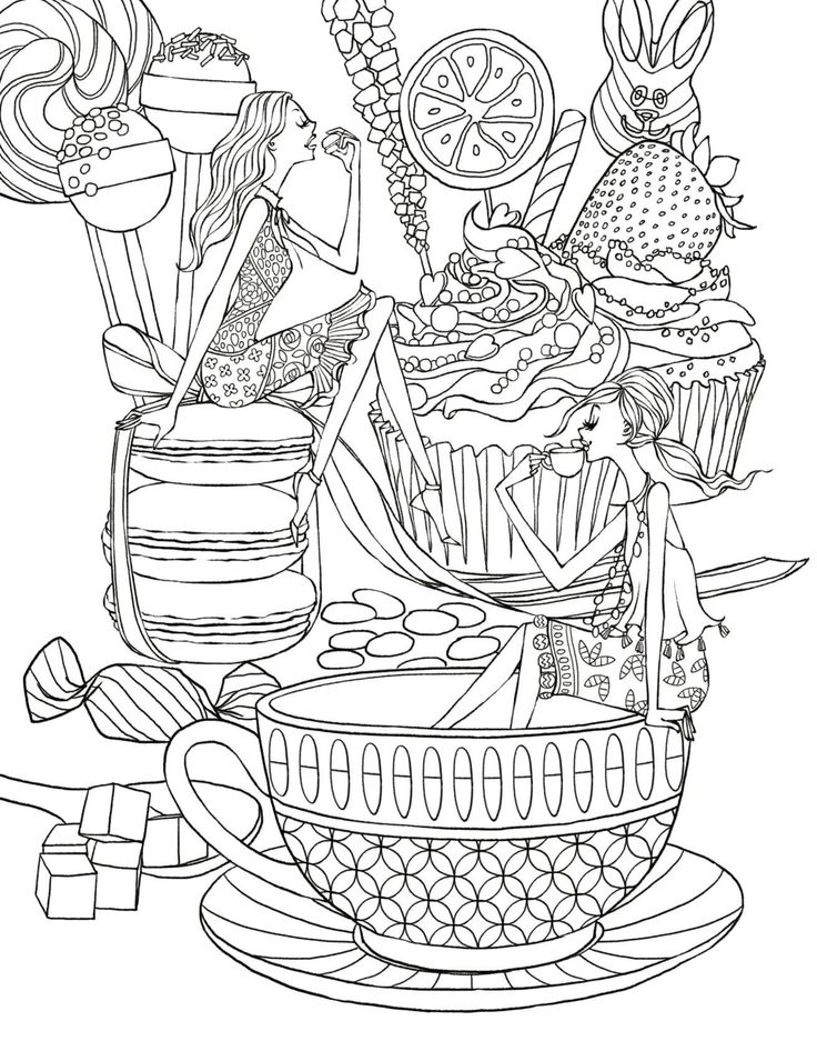 coloring pages of dishes - photo#47