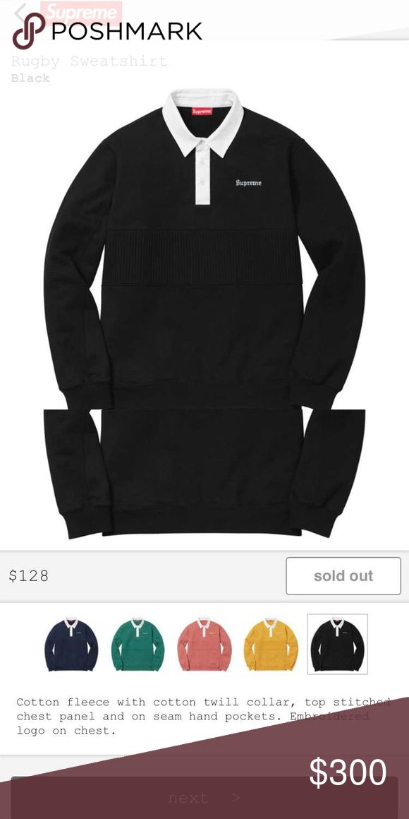 Supreme rugby sweatshirt 2017 It is clean and brand new came out today Supreme Other