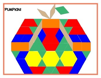 """Math mini-unit """"Fall""""-ing for Shapes, Data and Graphing includes:  1.  2 coordinate graphing worksheets  2.  An activity on transformations (flips, turns, and slides) 3.  A shape finder id and coloring sheet  4.  A pumpkin pattern block template 5.  2 tally chart, pictograph, bar graph activities 6.  A writing sheet with fall clipart to write about shapes 7.  3 Other extension activities activity cards"""