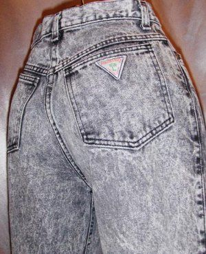 Acid washed jeans – if you lived in the 80s, you probably had at least a couple pairs of these right next to your parachute pants!