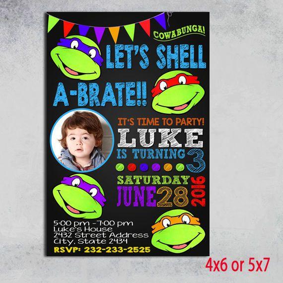 Ninja turtle invitation, Ninja birthday invitation, Ninja Turtles, #LogitoCampeny #BirthdayChild