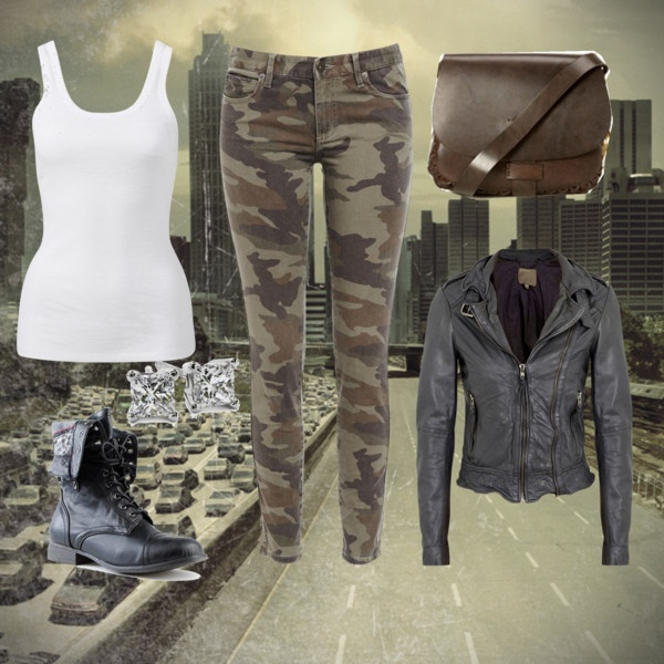 """""""Every girl needs a cute outfit for the Zombie Apocalypse"""" by melissajanes on Polyvore"""