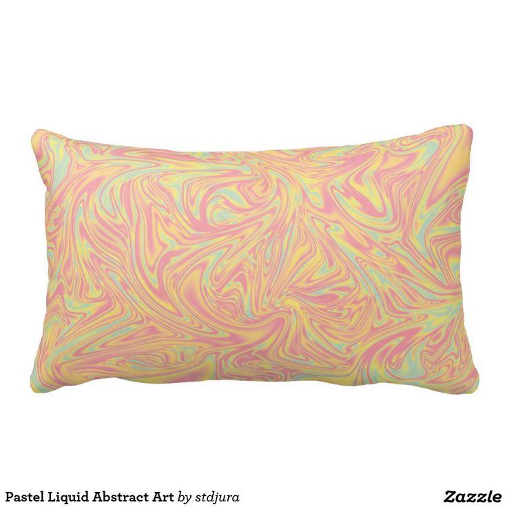 Pastel Liquid Abstract Art Throw Pillow