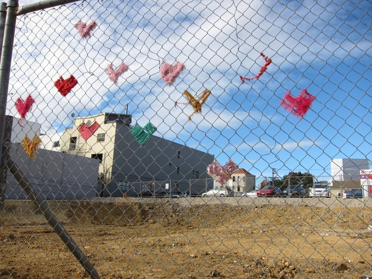 Flying hearts.. location: construction site on Parnell