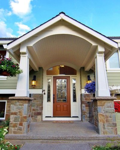 Split level portico before and after for the home for Exterior entryway design ideas