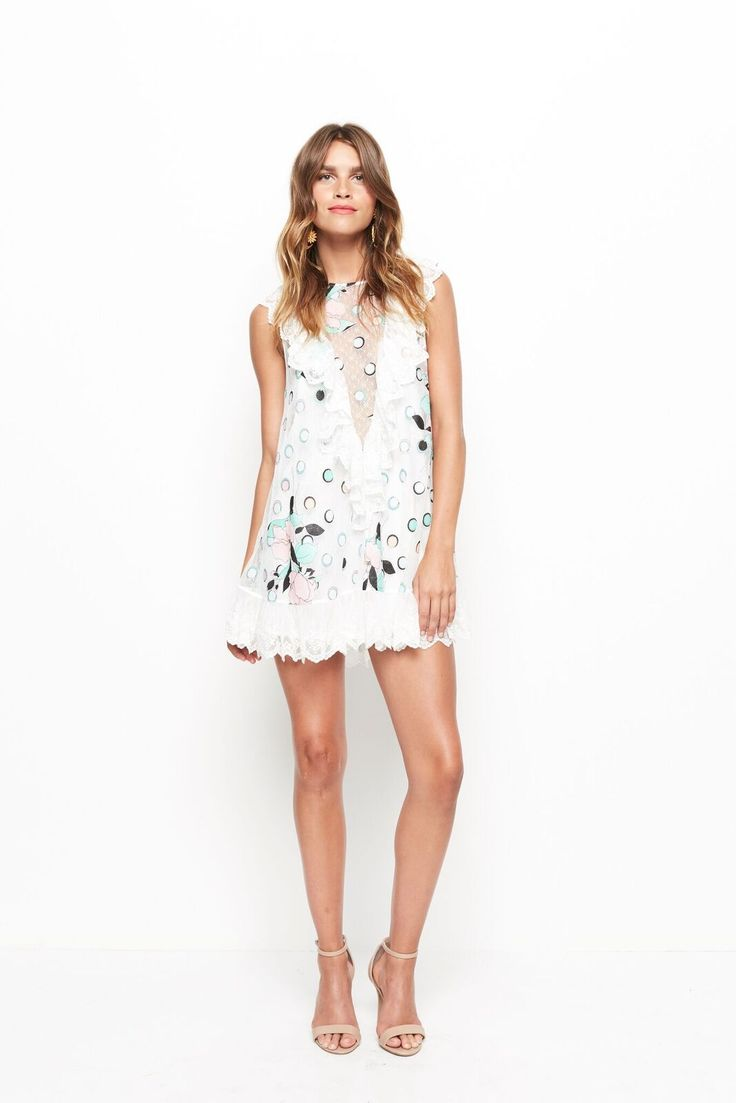 Alice McCALL - Born This Way Playsuit - Spot Dot White