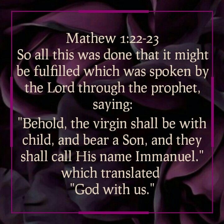 Mathew 1:22-23 | Sayings, Bible, Faith