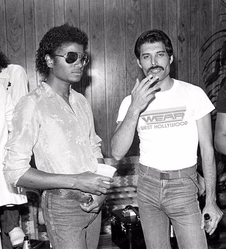 Michael Jackson and Freddie Mercury together, 1981 : OldSchoolCool