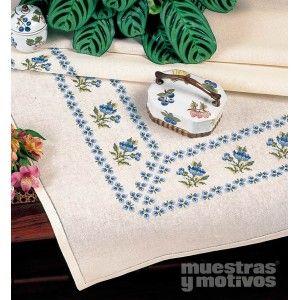 Maravillosas cenefas en punto de cruz con motivos florales.  #muestrasymotivos #cenefas #puntodecruz