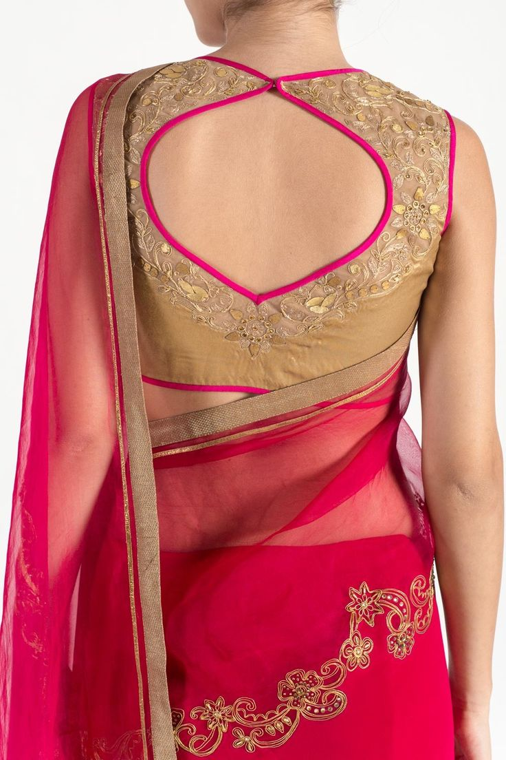Gold ornamental saree - Saree - Autumn Winter 2015