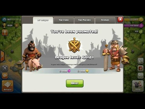 Clash of Clans Town Hall 4 (TH4) Gold League I ⋆ Clash of Clans 3 Stars Clan Wars