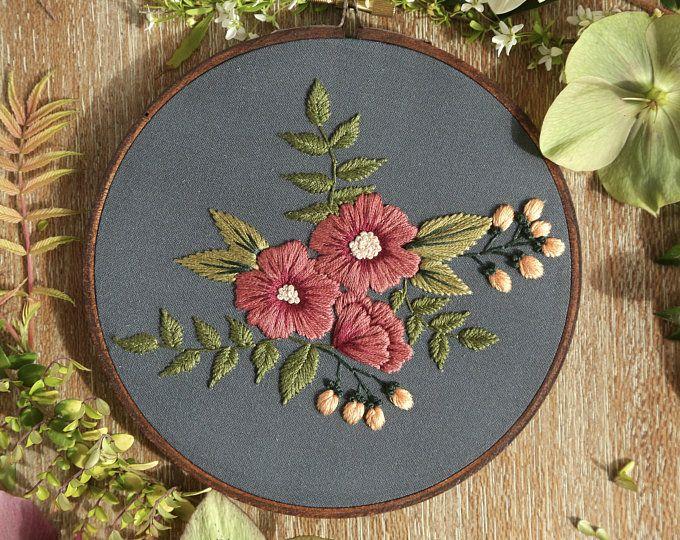 Hoop Art DIY Craft Kit Modern Embroidery Hand Embroidery Beginner Wall Art Hoffelt and Hooper Beginner Embroidery Kit for Beginners