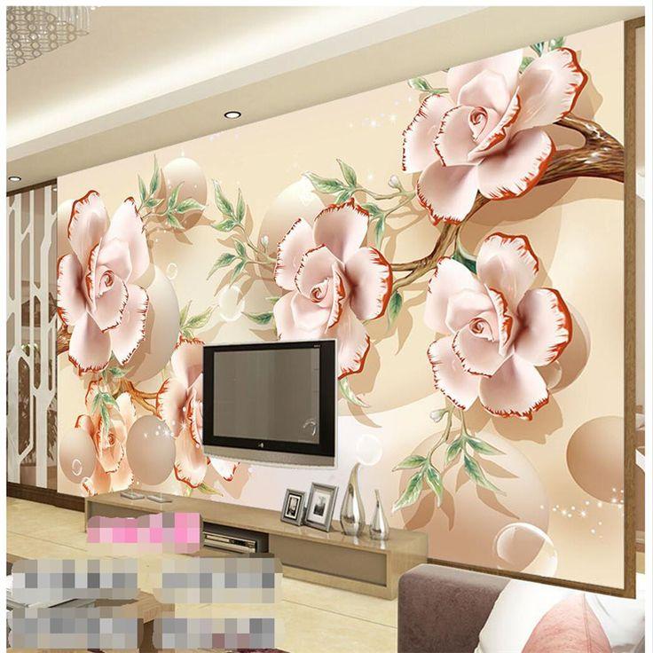 Beibehang paneli duvar kağıdı pembe şeftali kabartma fotoğraf arka plan modern avrupa sanat mural oturma odası büyük resim ev için(China (Mainland))