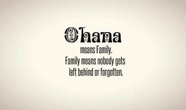 Ohana means family tattoo