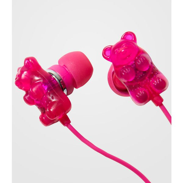 Scented Gummy Bear Earbuds ($14) ❤ liked on Polyvore featuring headphones, electronics, accessories, music and phone